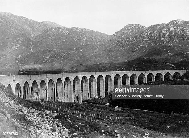 Glenfinnan Viaduct between Fort William and Mallaig Scottish Highlands 1914