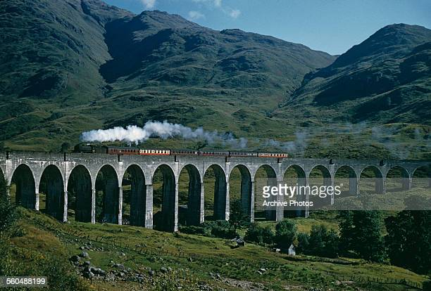 Glenfinnan Viaduct in Lochaber Scotland UK 1959 The location was used in a number of films including the 'Harry Potter' series