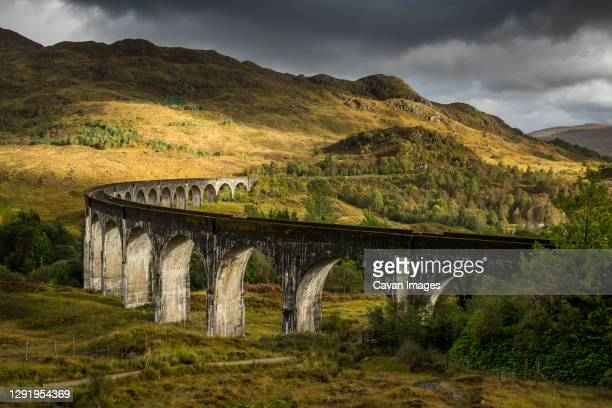 glenfinnan viaduct in scotland, uk - rail transportation stock pictures, royalty-free photos & images