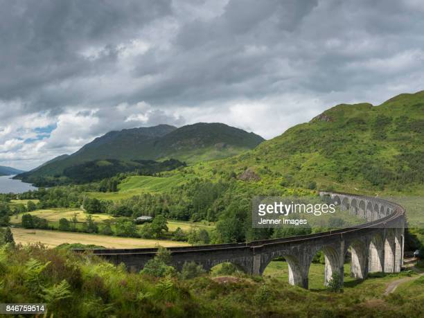 Glenfinnan Viaduct in the Highlands of Scotland.