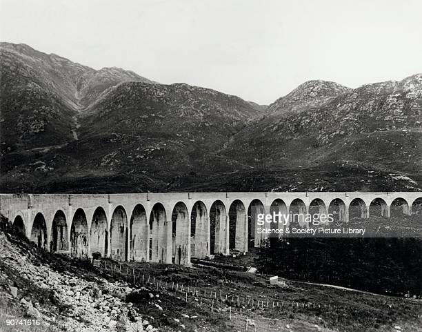 Glenfinnan Viaduct on the North British Railway West Highland Extension This viaduct represents the first use of concrete in the building of a major...