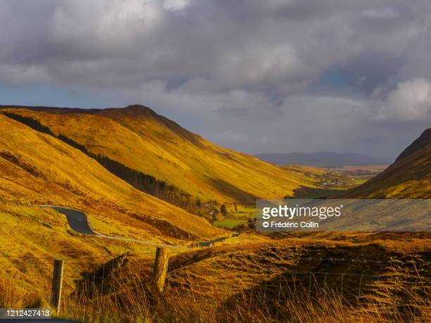 glengesh pass in ireland (donegal county) - ulster province stock pictures, royalty-free photos & images