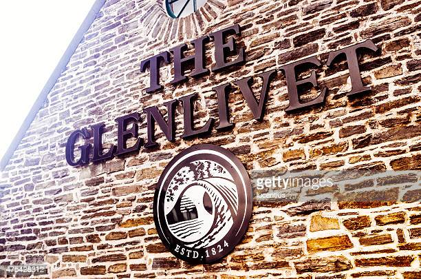 Glenlivet Whiskybrennerei Schild, Schottland