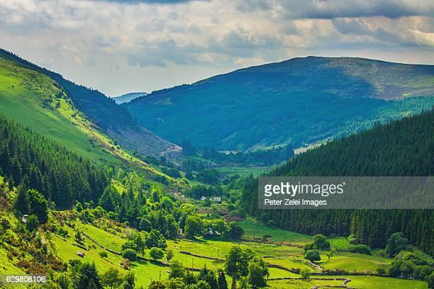 Glenmacnass valley in County Wicklow, Ireland