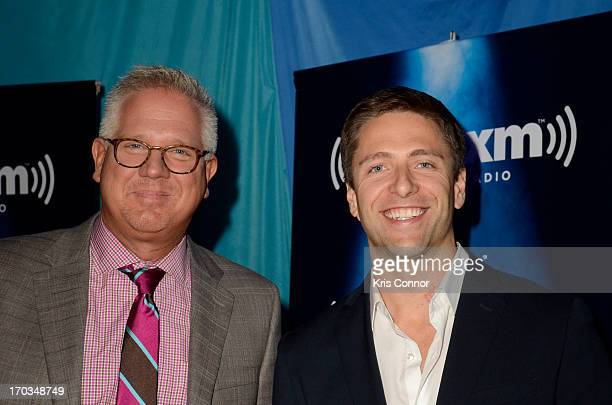 """Glenn Beck and SiriusXM Patriot Host Mike Slater discuss Beck's new book """"The Eye of Moloch"""" on SiriusXM's """"Author Confidential with Glenn Beck"""" at..."""