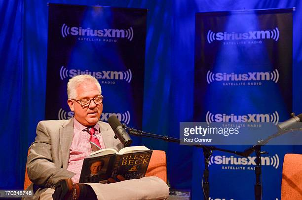 """Glenn Beck discusses his new book """"The Eye of Moloch"""" with SiriusXM Patriot host Mike Slater on SiriusXM's Author Confidential with Glenn Beck at..."""