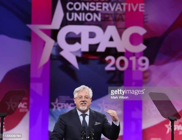 Glenn Beckspeaks during CPAC 2019 on March 1, 2019 in National Harbor, Maryland. The American Conservative Union hosts the annual Conservative...