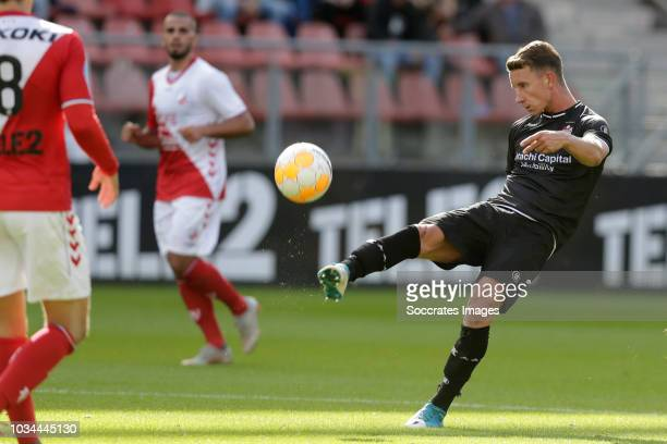 Glenn Bijl of FC Emmen during the Dutch Eredivisie match between FC Utrecht v FC Emmen at the Stadium Galgenwaard on September 16 2018 in Utrecht...