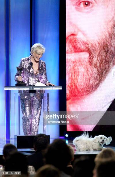 """Glenn Close accepts Best Female Lead for """"The Wife"""" onstage during the 2019 Film Independent Spirit Awards on February 23 2019 in Santa Monica..."""