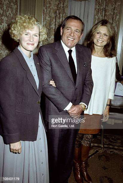 Glenn Close Alan King and Gloria Steinem during NY Women In Film Awards December 13 1989 at Pierre Hotel in New York City New York United States