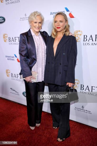 Glenn Close and Annie Maude Starke arrive to the BAFTA Tea Party at The Four Seasons Hotel Los Angeles at Beverly Hills on January 05 2019 in Beverly...