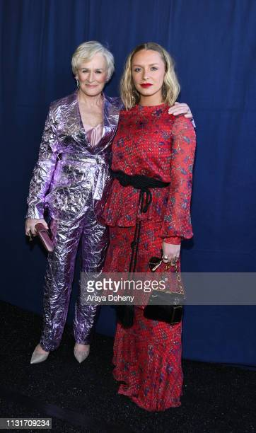 Glenn Close and Annie Maude Starke at the 2019 Film Independent Spirit Awards on February 23 2019 in Santa Monica California