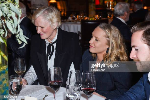 Glenn Close and Annie Maude Starke attend Susan Rockefeller's Birthday Bash at The California Club on February 17 2019 in Los Angeles California