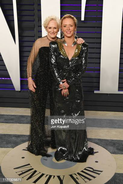 Glenn Close and Annie Maude Starke attend the 2019 Vanity Fair Oscar Party hosted by Radhika Jones at Wallis Annenberg Center for the Performing Arts...