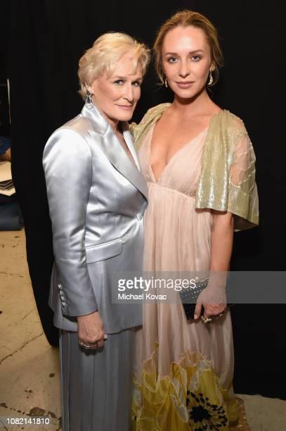 Glenn Close and Annie Starke attend the 24th annual Critics' Choice Awards at Barker Hangar on January 13 2019 in Santa Monica California