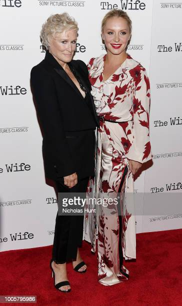 Glenn Close and Annie Starke attend the New York Screening of 'The Wife' at The Paley Center for Media on July 26 2018 in New York City