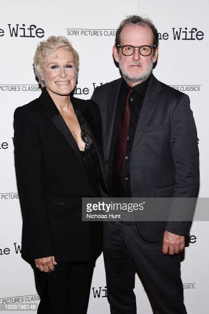 Glenn Close and Bjorn Runge attend the New York Screening of 'The Wife' at The Paley Center for Media on July 26 2018 in New York City