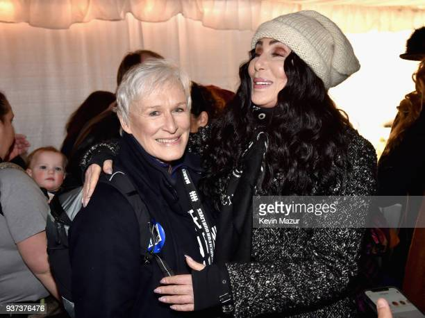 Glenn Close and Cher attend March For Our Lives on March 24 2018 in Washington DC