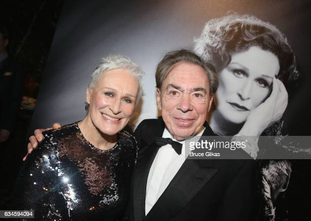 Glenn Close and Composer Sir Andrew Lloyd Webber pose at the Opening Night Party for 'Sunset Boulevard' on Broadway at Cipriani 42nd Street on...