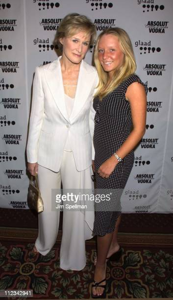 Glenn Close and daughter Annie during The 13th Annual GLAAD Media Awards - New York - Arrivals at New York Marriott Marquis in New York City, New...