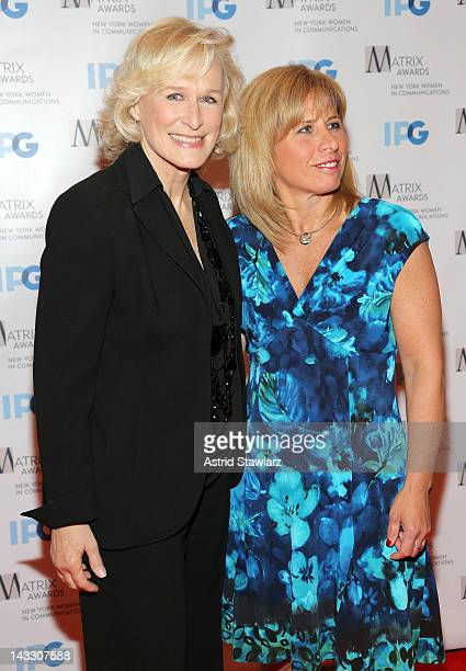 Glenn Close and Deputy Chief Theresa J Shortell attend the 2012 Matrix Awards Luncheon at Waldorf Astoria Hotel on April 23 2012 in New York City
