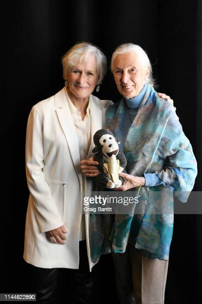 Glenn Close and Dr Jane Goodall attend the TIME 100 Summit 2019 on April 23 2019 in New York City