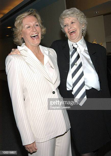Glenn Close and Elaine Stritch during HBO Presents The Premiere Screening of Elaine Stritch At Liberty at HBO Building in New York City NY United...