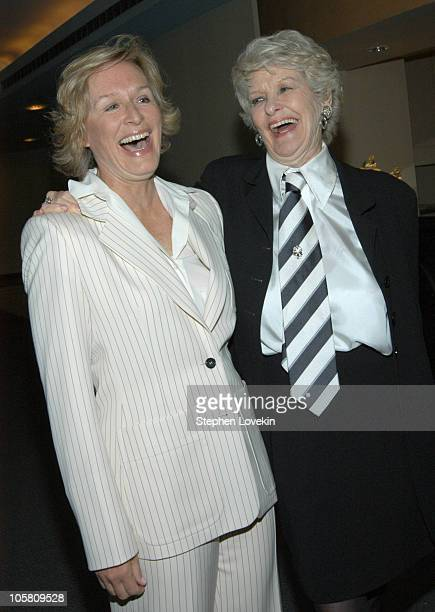 Glenn Close and Elaine Stritch during HBO Presents The Premiere Screening of 'Elaine Stritch At Liberty' at HBO Building in New York City NY United...