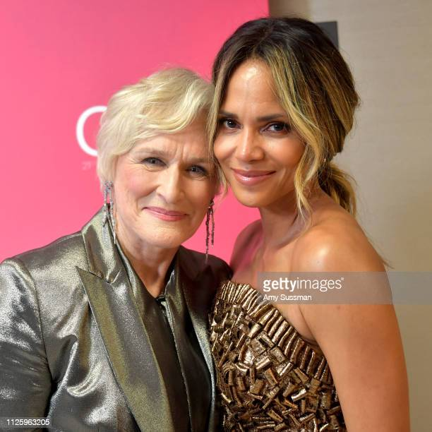 Glenn Close and Halle Berry attend The 21st CDGA at The Beverly Hilton Hotel on February 19 2019 in Beverly Hills California