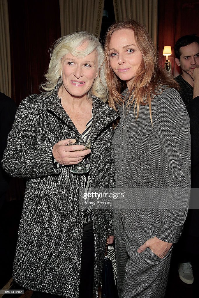 Glenn Close and host Stella McCartney attend the Stella McCartney Autumn 2013 Presentation at 680 Park Avenue on January 8, 2013 in New York City.