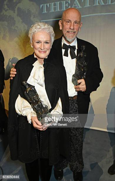 Glenn Close and John Malkovich attend The 62nd London Evening Standard Theatre Awards after party recognising excellence from across the world of...
