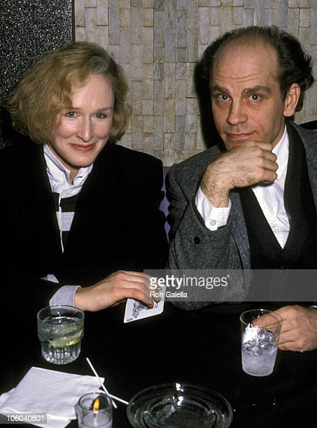 Glenn Close and John Malkovich during The Grifters Premiere Party January 23 1991 at Big City Diner in New York City New York United States