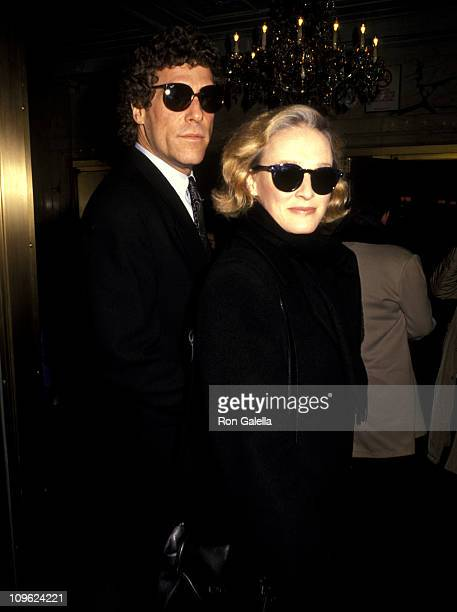 Glenn Close and John Starke during Memorial Service for Mary Martin January 28 1991 at Majestic Theater in New York City New York United States