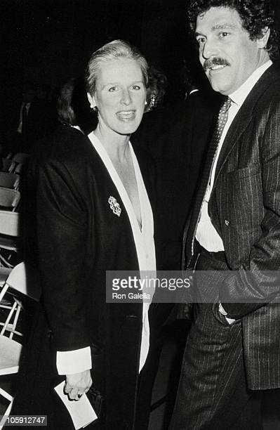 Glenn Close and John Starke during The 1988 DW Griffith Awards at Lincoln Center Library in New York City New York United States