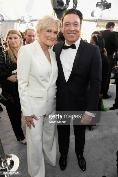 Glenn Close and Kevin Huvane attend the 25th Annual Screen Actors Guild Awards at The Shrine Auditorium on January 27 2019 in Los Angeles California...