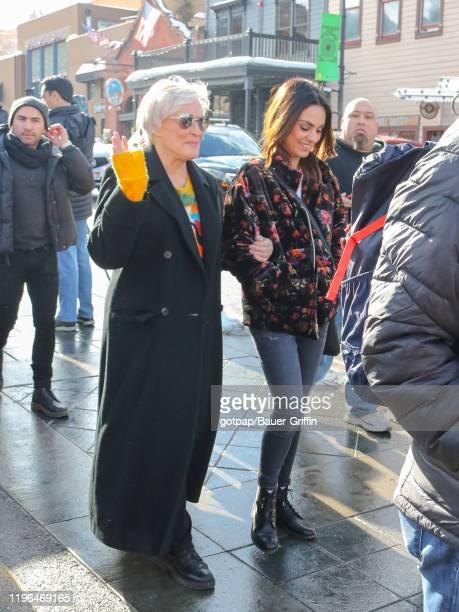 Glenn Close and Mila Kunis are seen on January 25 2020 in Park City Utah