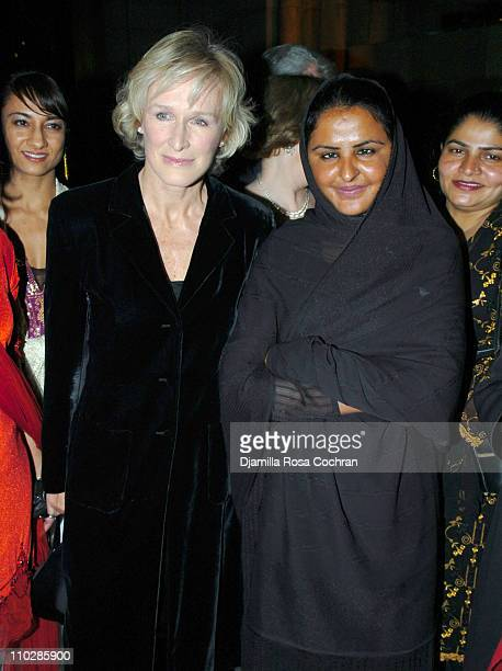 Glenn Close and Mukhtar Mai during The International Women's Health Initiative Benefit Gala January 19 2006 at Cipriani in New York City New York...