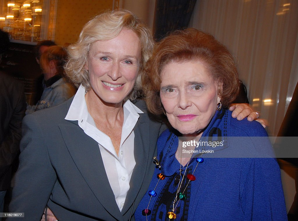 Glenn Close and Patricia Neal during 60th Annual Tony Awards - Cocktail Celebration at The Waldorf Astoria in New York City, New York, United States.