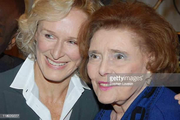 Glenn Close and Patricia Neal during 60th Annual Tony Awards Cocktail Celebration at The Waldorf Astoria in New York City New York United States