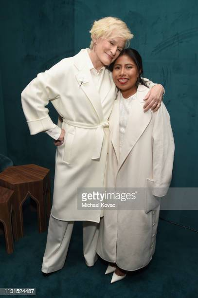 Glenn Close and Yalitza Aparicio attends the 12th Annual Women in Film Oscar Nominees Party Presented by Max Mara with additional support from Chloe...