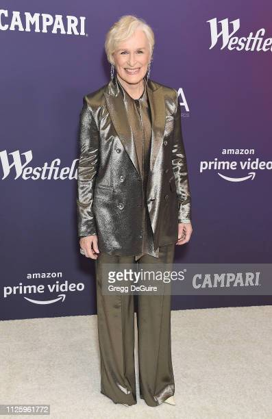 Glenn Close arrives at the 21st CDGA at The Beverly Hilton Hotel on February 19 2019 in Beverly Hills California