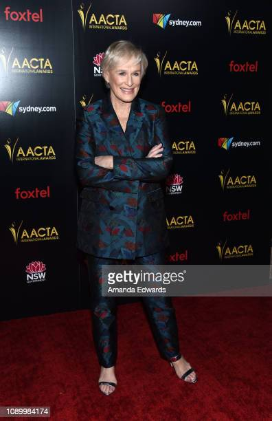 Glenn Close arrives at the 8th AACTA International Awards at Mondrian Los Angeles on January 04 2019 in West Hollywood California