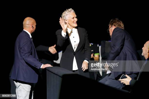 Glenn Close arrives at the Golden Icon Award ceremony at the 'The Wife' premiere at the 13th Zurich Film Festival on October 1 2017 in Zurich...