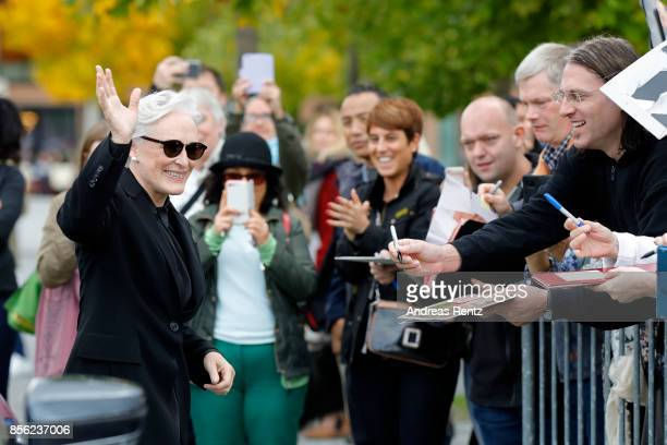 Glenn Close arrives for the 'The Wife' press conference during the 13th Zurich Film Festival on October 1 2017 in Zurich Switzerland The Zurich Film...