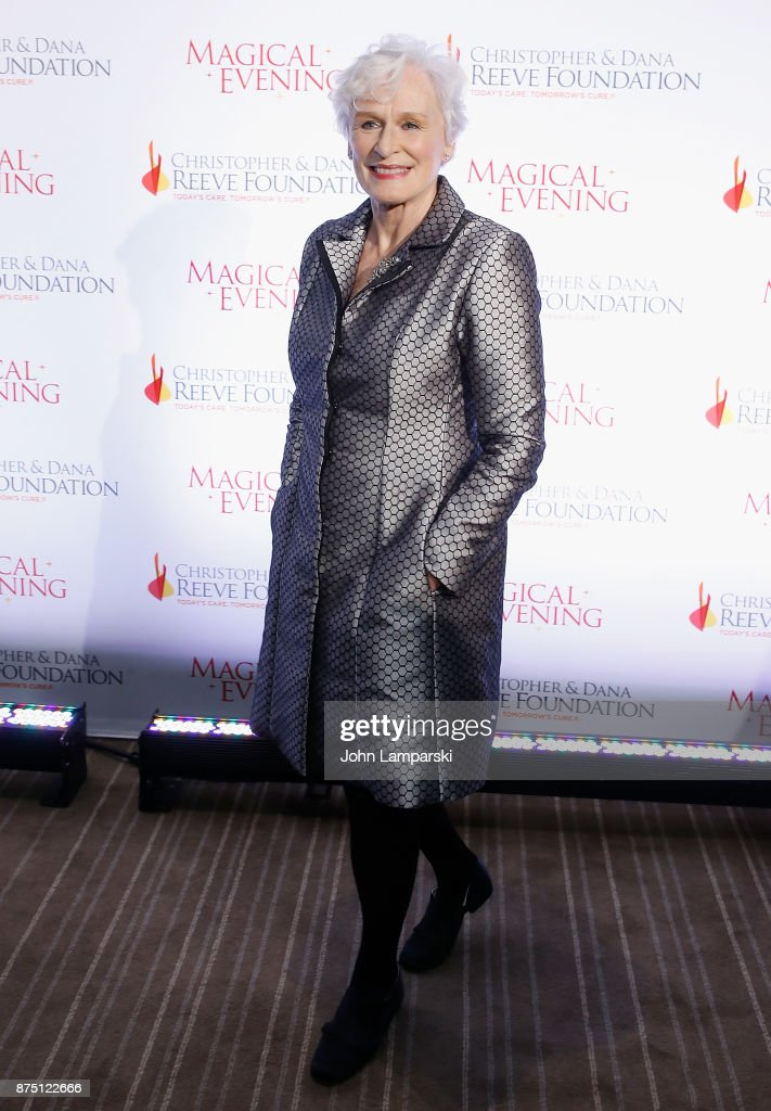 Glenn Close attends 2017 Christopher & Dana Reeve Foundation 'A Magical Evening' Gala at The Conrad New York on November 16, 2017 in New York City.