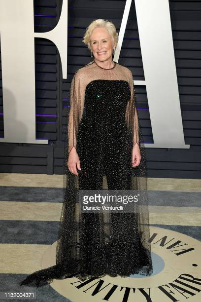 Glenn Close attends 2019 Vanity Fair Oscar Party Hosted By Radhika Jones Arrivals at Wallis Annenberg Center for the Performing Arts on February 24...