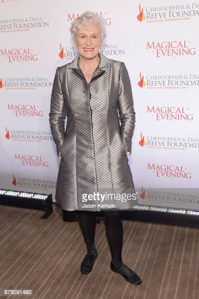 Glenn Close attends 'A Magical Evening' Gala hosted by The Christopher Dana Reeve Foundation a at Conrad Hotel on November 16 2017 in New York City
