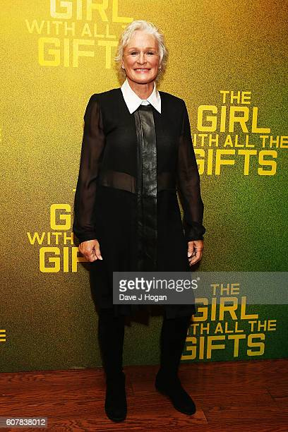 """Glenn Close attends a special screening of """"The Girl With All The Gifts"""" at Vue West End on September 19, 2016 in London, England."""