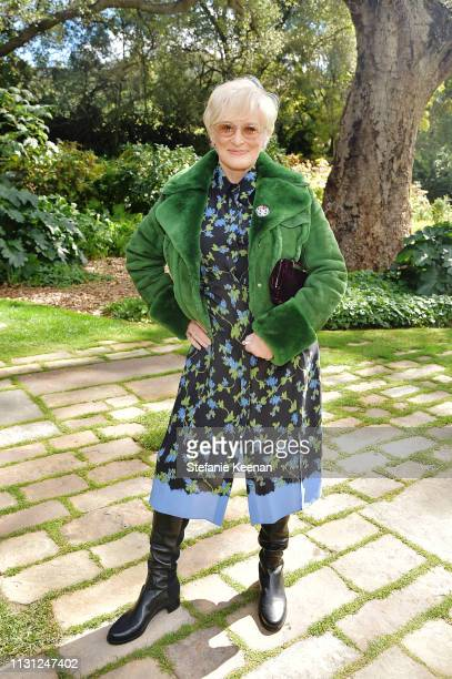 Glenn Close attends Diane von Furstenberg with The Academy Museum Celebrates Female Oscars Nominees at Private Residence on February 21 2019 in...