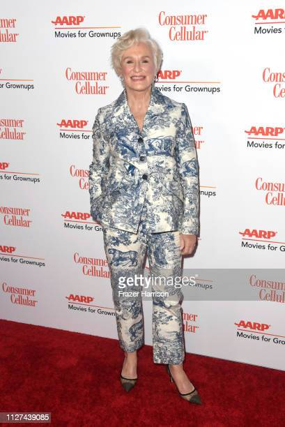 Glenn Close attends the 18th Annual AARP The Magazine's Movies For Grownups Awards at the Beverly Wilshire Four Seasons Hotel on February 04 2019 in...